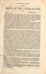 Address to the people of the United States by Constitutional Union Party (U.S.). National Executive Committee