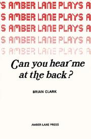 Cover of: Can you hear me at the back? | Brian Clark