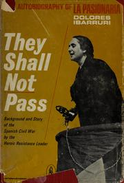 Cover of: They shall not pass