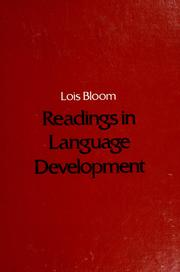 Cover of: Readings in language development |