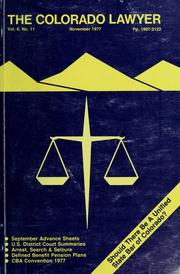 Cover of: Colorado lawyer