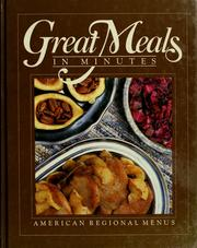 Cover of: American regional menus. |