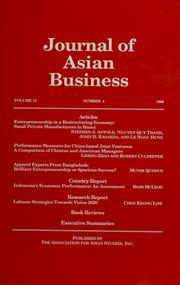 Cover of: Asian journal of business & information systems