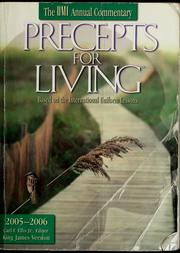 Cover of: Precepts for living ...