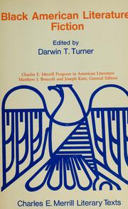 Cover of: Black American literature | edited by Darwin T. Turner.