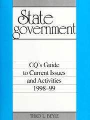 Cover of: State government | Thad L. Beyle