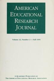 Cover of: American educational research journal