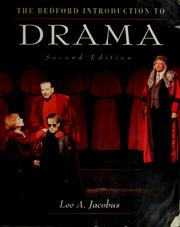 Cover of: The Bedford introduction to drama |