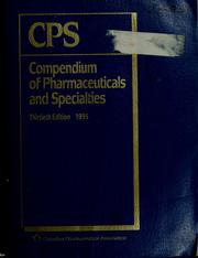 Cover of: Compendium of pharmaceuticals and specialties (Canada)
