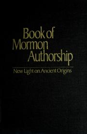 Book of Mormon authorship by