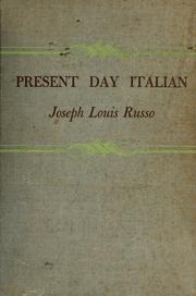 Cover of: Present day Italian. | Joseph Louis Russo