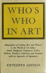 Cover of: Who's who in art