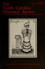 Cover of: North Carolina historical review | North Carolina Historical Commission