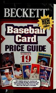 Cover of: Baseball card price guide |