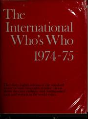 Cover of: The International who's who, 1995-96 |