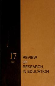 Cover of: Review of research in education