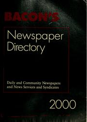 Cover of: Bacon's newspaper directory