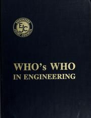 Cover of: Who's who in engineering