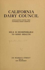 Cover of: California dairy council