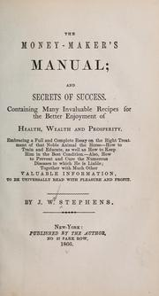 Cover of: The money-maker's manual