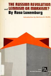 Cover of: Russische Revolution