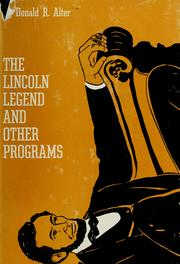 Cover of: The Lincoln legend