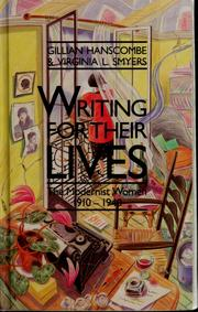 Cover of: Writing for their lives | Gillian E. Hanscombe