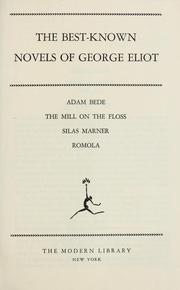 The best-known novels of George Eliot ... by George Eliot