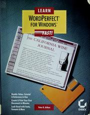 Cover of: Learn WordPerfect for Windows fast!