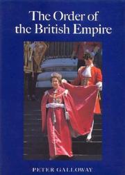 Cover of: The Order of the British Empire