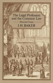 Cover of: The Legal Profession and the Common Law