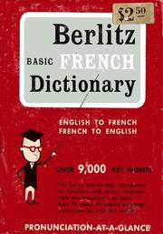 Cover of: Berlitz Basic French Dictionary |