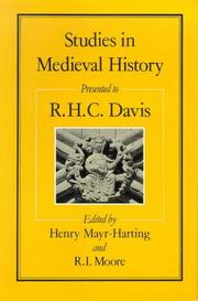 Cover of: Studies in medieval history presented to R.H.C. Davis