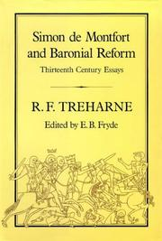 Simon de Montfort and baronial reform by R. F. Treharne