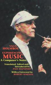 Cover of: Experiencing Music