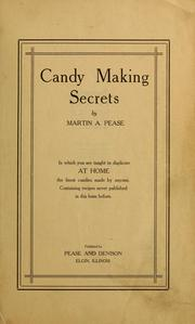Cover of: Candy making secrets