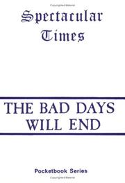 Cover of: The Bad Days Will End