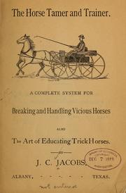 Cover of: Horse tamer and trainer...