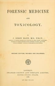 Cover of: Forensic medicine and toxicology