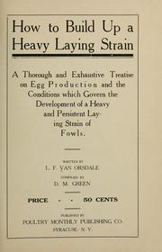 Cover of: How to build up a heavy laying strain