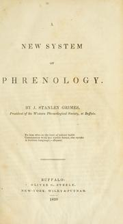 Cover of: A new system of phrenology