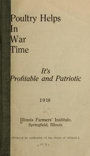 Cover of: Poultry helps in war time