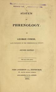 Cover of: A system of phrenology ...