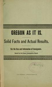 Cover of: Oregon as it is