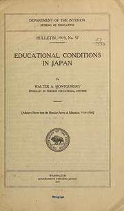 Cover of: Educational conditions in Japan