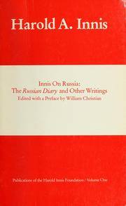 Innis on Russia by Harold Adams Innis