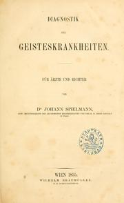 Cover of: Diagnostik der Geisteskrankheiten