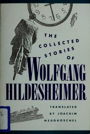 Cover of: The collected stories of Wolfgang Hildesheimer