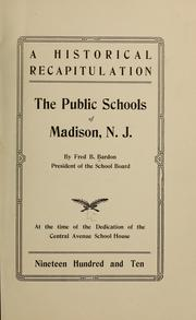 Cover of: A historical recapitulation