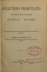 Cover of: Selections from Plato